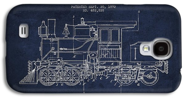 Rail Digital Art Galaxy S4 Cases - Vintage Locomotive patent from 1892 Galaxy S4 Case by Aged Pixel