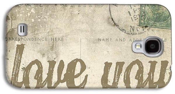 Love Galaxy S4 Cases - Vintage Love Letters Galaxy S4 Case by Edward Fielding