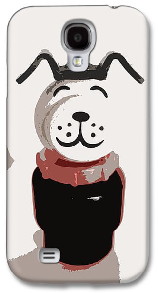 Lucky Dogs Galaxy S4 Cases - Vintage Lucky Dog Galaxy S4 Case by The  Vault - Jennifer Rondinelli Reilly