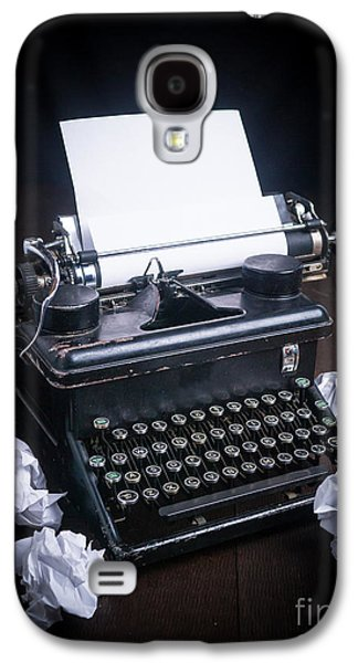 Typewriter Keys Photographs Galaxy S4 Cases - Vintage Manual Typewriter Galaxy S4 Case by Edward Fielding