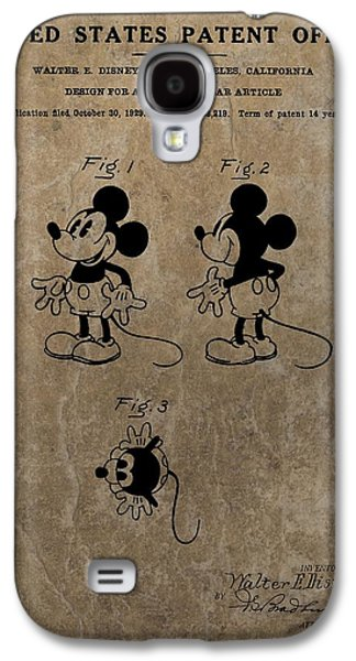 Animation Galaxy S4 Cases - Vintage Mickey Mouse Patent Galaxy S4 Case by Dan Sproul