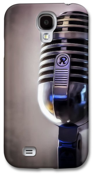 Sound Digital Art Galaxy S4 Cases - Vintage Microphone 2 Painted Galaxy S4 Case by Scott Norris
