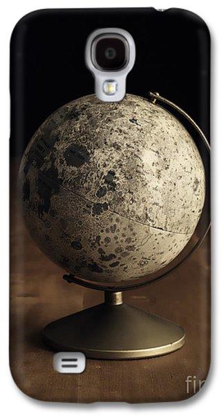 Moon Galaxy S4 Cases - Vintage Moon Globe Galaxy S4 Case by Edward Fielding
