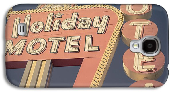 Atomic Galaxy S4 Cases - Vintage Motel Sign Square Galaxy S4 Case by Edward Fielding