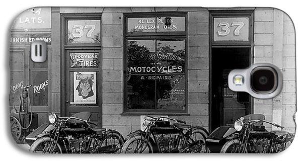 Vintage Motorcycle Dealership Galaxy S4 Case by Jon Neidert