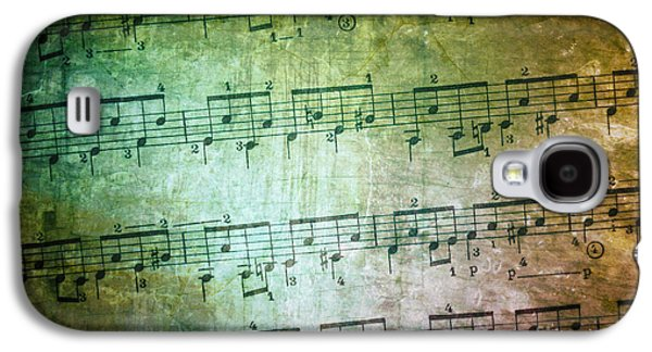 Trash Galaxy S4 Cases - Vintage Music Sheet Galaxy S4 Case by Carlos Caetano