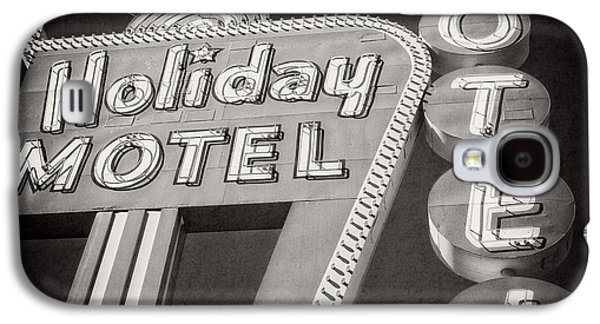 The Strip Galaxy S4 Cases - Vintage Neon Sign Holiday Motel Las Vegas Nevada Galaxy S4 Case by Edward Fielding