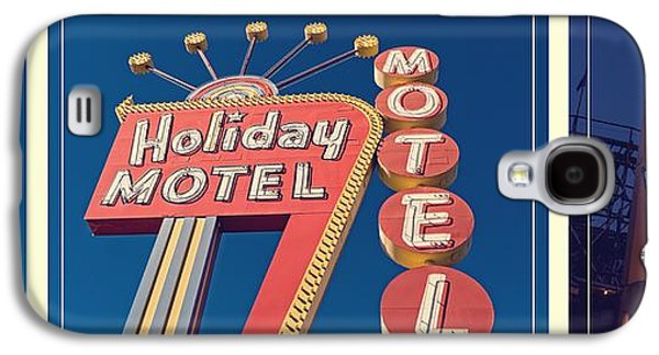 Rollercoaster Photographs Galaxy S4 Cases - Vintage Neon Signs Trio Galaxy S4 Case by Edward Fielding