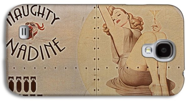 Warbird Galaxy S4 Cases - Vintage Nose Art Naughty Nadine Galaxy S4 Case by Cinema Photography