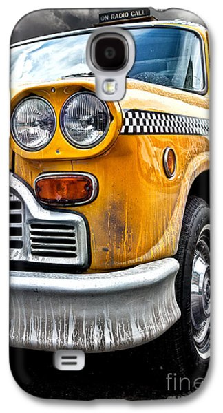 Vintage Photographs Galaxy S4 Cases - Vintage NYC Taxi Galaxy S4 Case by John Farnan