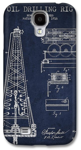 Rigs Galaxy S4 Cases - Vintage Oil drilling rig Patent from 1916 Galaxy S4 Case by Aged Pixel