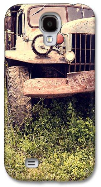 Farm Truck Galaxy S4 Cases - Vintage Old Dodge Work Truck Galaxy S4 Case by Edward Fielding