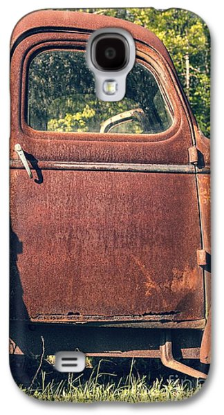 Cherry Blossoms Galaxy S4 Cases - Vintage Old Rusty Truck Galaxy S4 Case by Edward Fielding