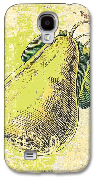 Surtex Licensing Galaxy S4 Cases - Classic Kitchen Art - Vintage Pear in Cream and Green  Galaxy S4 Case by Anahi DeCanio - ArtyZen Studios