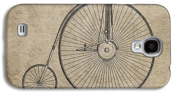 Transportation Mixed Media Galaxy S4 Cases - Vintage Penny-Farthing Bicycle Illustration Galaxy S4 Case by Dan Sproul