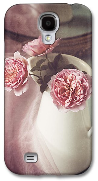 Tabletop Galaxy S4 Cases - Vintage Pink Galaxy S4 Case by Amy Weiss