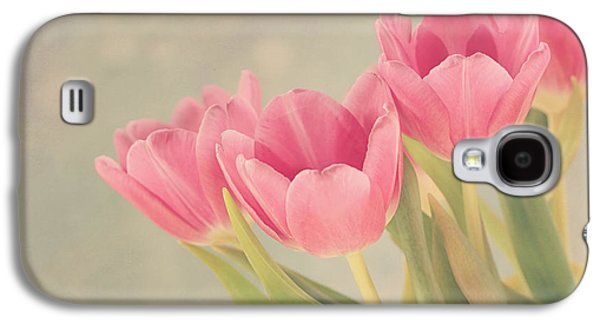 Concept Photographs Galaxy S4 Cases - Vintage Pink Tulips Galaxy S4 Case by Kim Hojnacki