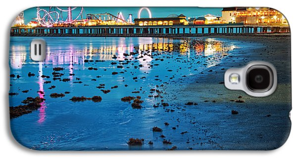Alga Galaxy S4 Cases - Vintage Pleasure Pier - Gulf Coast Galveston Texas Galaxy S4 Case by Silvio Ligutti