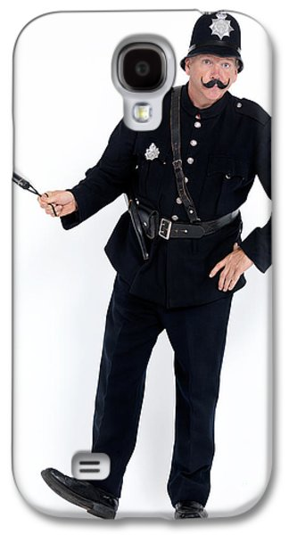 Policeman Galaxy S4 Cases - Vintage police officer with a baton Galaxy S4 Case by Oleksiy Maksymenko
