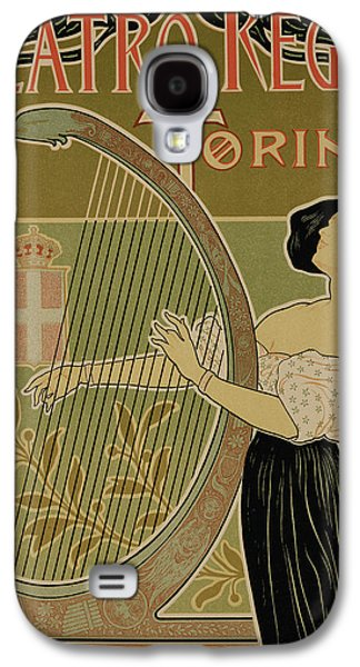Vintage Poster Advertising The Theater Royal Turin Galaxy S4 Case by Italian School