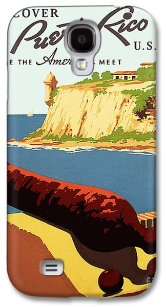 Puerto Rico Galaxy S4 Cases - Vintage Puerto Rico Travel Poster Galaxy S4 Case by Jon Neidert