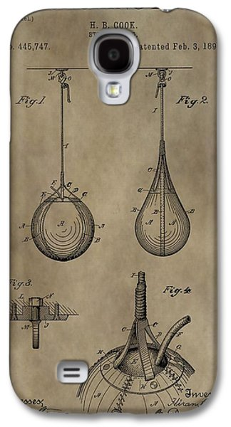 Punching Galaxy S4 Cases - Vintage Punching Bag Patent Galaxy S4 Case by Dan Sproul