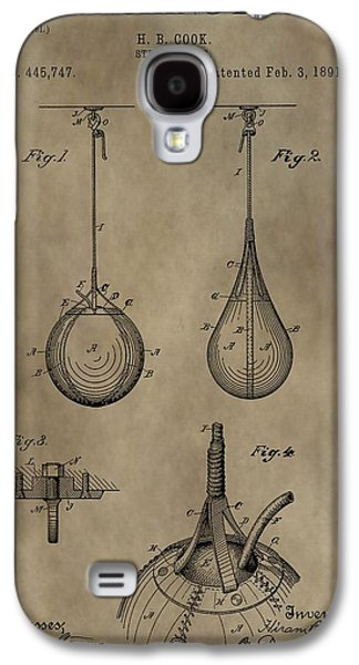 Vintage Punching Bag Patent Galaxy S4 Case by Dan Sproul
