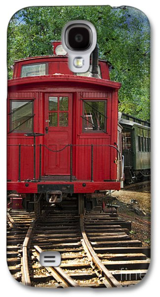 Caboose Photographs Galaxy S4 Cases - Vintage Red Train Galaxy S4 Case by Juli Scalzi