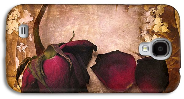 Floral Digital Digital Galaxy S4 Cases - Vintage Rose Petals Galaxy S4 Case by Jessica Jenney
