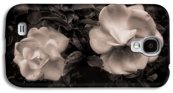Duo Tone Galaxy S4 Cases - Vintage Roses in Antique Tones No 2 Galaxy S4 Case by Louise Kumpf