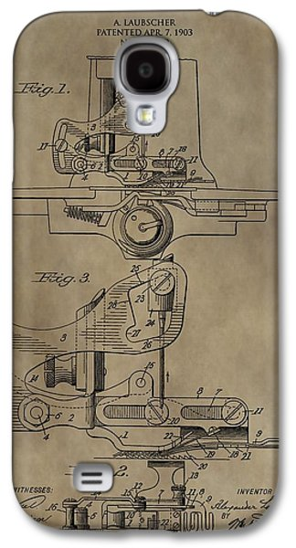 Industrial Drawings Galaxy S4 Cases - Vintage Sewing Machine Patent Galaxy S4 Case by Dan Sproul