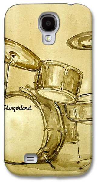 Music Drawings Galaxy S4 Cases - Vintage Slingers Galaxy S4 Case by Pete Maier