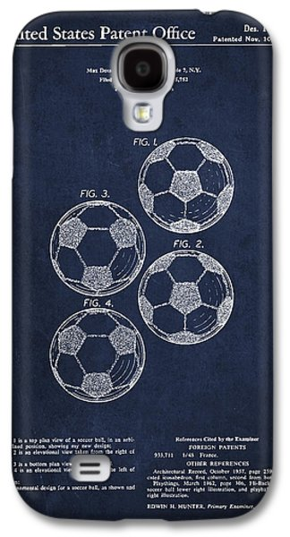 Invention Galaxy S4 Cases - Vintage Soccer Ball Patent Drawing from 1964 Galaxy S4 Case by Aged Pixel