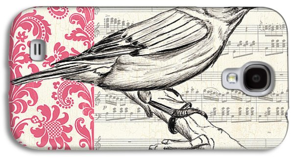 Symbol Paintings Galaxy S4 Cases - Vintage Songbird 1 Galaxy S4 Case by Debbie DeWitt