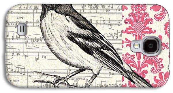 Flora Paintings Galaxy S4 Cases - Vintage Songbird 2 Galaxy S4 Case by Debbie DeWitt