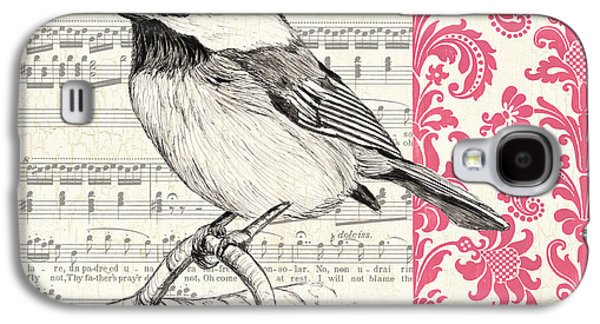 Symbol Paintings Galaxy S4 Cases - Vintage Songbird 3 Galaxy S4 Case by Debbie DeWitt