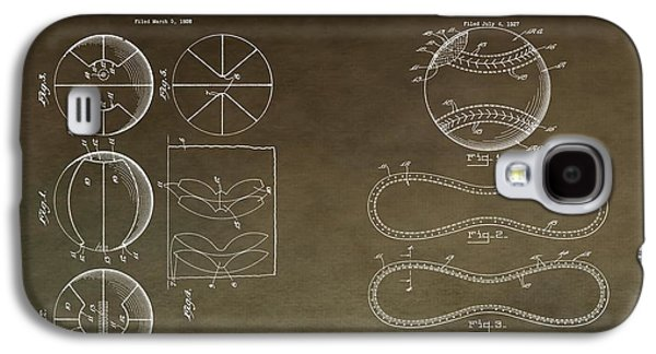 Dunk Mixed Media Galaxy S4 Cases - Vintage Sports Patent Drawing Galaxy S4 Case by Dan Sproul