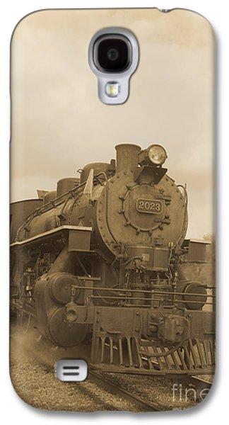 Brown Tones Galaxy S4 Cases - Vintage Steam Locomotive Galaxy S4 Case by Edward Fielding