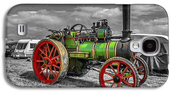 Machinery Galaxy S4 Cases - Vintage Steam Traction Engine Galaxy S4 Case by Trevor Kersley