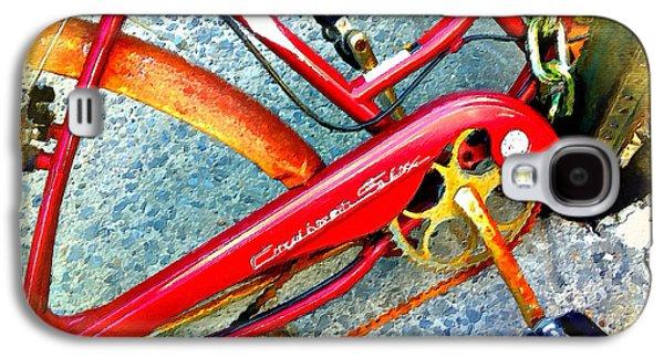 Interior Scene Mixed Media Galaxy S4 Cases - Vintage Street Bicycle Detail Galaxy S4 Case by Tony Rubino