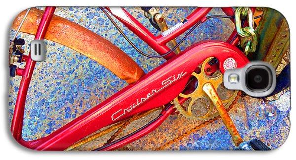 Interior Scene Mixed Media Galaxy S4 Cases - Vintage Street Bicycle Photo Detail Galaxy S4 Case by Tony Rubino