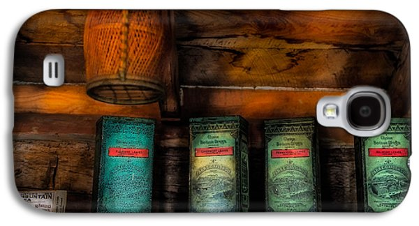 Log Cabin Interiors Galaxy S4 Cases - Vintage Tea Leaves Galaxy S4 Case by Paul Freidlund