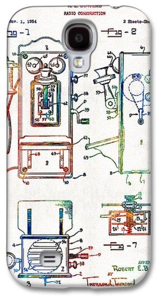 Radio Galaxy S4 Cases - Vintage Telephone Radio Art - Radio Construction - By Sharon Cummings Galaxy S4 Case by Sharon Cummings