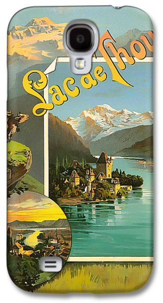 Switzerland Drawings Galaxy S4 Cases - Vintage Tourism Poster 1890 Galaxy S4 Case by Mountain Dreams