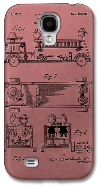 Toy Store Galaxy S4 Cases - Vintage Toy Fire Truck Patent Galaxy S4 Case by Dan Sproul