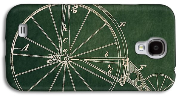 Cycling Drawings Galaxy S4 Cases - Vintage Velocipede Patent Galaxy S4 Case by Dan Sproul