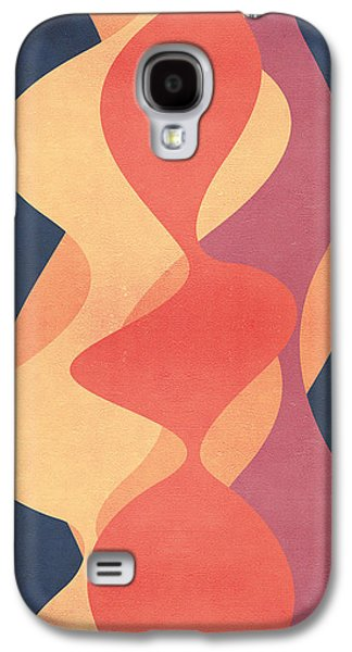 Blue Abstracts Digital Galaxy S4 Cases - Vintage Galaxy S4 Case by VessDSign