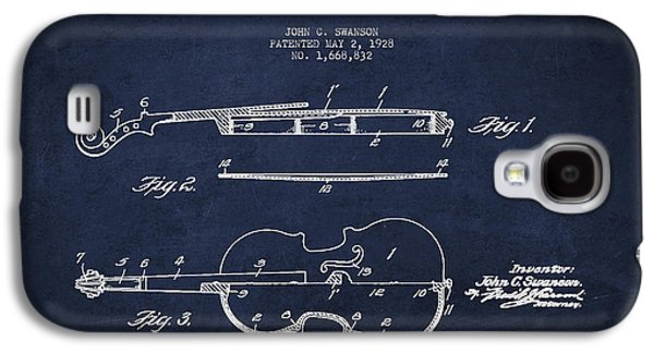 Vintage Violin Patent Drawing From 1928 Galaxy S4 Case by Aged Pixel