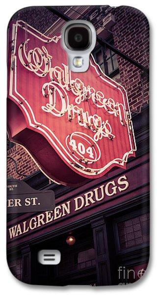 Studio Photographs Galaxy S4 Cases - Vintage Walgreen Drugs Store Neon Sign Galaxy S4 Case by Edward Fielding