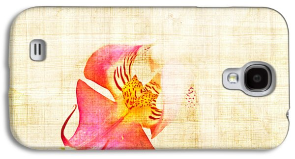 Vintage White Orchid Galaxy S4 Case by Delphimages Photo Creations
